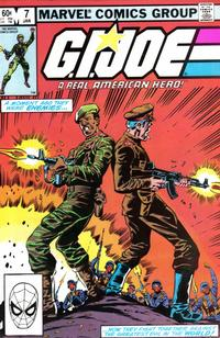 Cover Thumbnail for G.I. Joe, A Real American Hero (Marvel, 1982 series) #7 [Direct Edition]