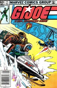 Cover Thumbnail for G.I. Joe, A Real American Hero (Marvel, 1982 series) #11 [Newsstand Edition]