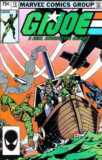 Cover Thumbnail for G.I. Joe, A Real American Hero (Marvel, 1982 series) #12 [Second Print]