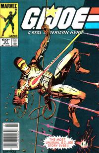 Cover Thumbnail for G.I. Joe, A Real American Hero (Marvel, 1982 series) #21 [Newsstand Edition]