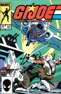 Cover for G.I. Joe, A Real American Hero (Marvel, 1982 series) #24 [Direct Edition]
