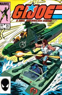 Cover Thumbnail for G.I. Joe, A Real American Hero (Marvel, 1982 series) #25 [Direct Edition]