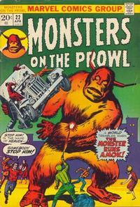 Cover Thumbnail for Monsters on the Prowl (Marvel, 1971 series) #22