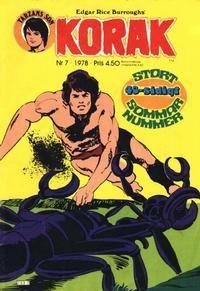 Cover Thumbnail for Korak (Atlantic Förlags AB, 1977 series) #7/1978