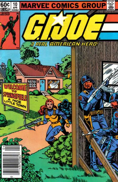 Cover for G.I. Joe, A Real American Hero (Marvel, 1982 series) #10 [Direct Edition]