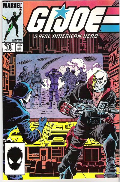 Cover for G.I. Joe, A Real American Hero (Marvel, 1982 series) #18 [Direct Edition]