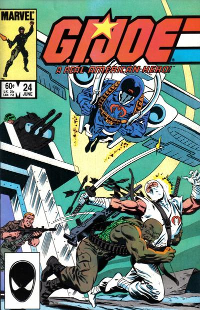 Cover for G.I. Joe, A Real American Hero (Marvel, 1982 series) #24 [Newsstand Edition]