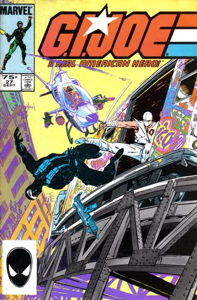 Cover for G.I. Joe, A Real American Hero (Marvel, 1982 series) #27 [Second Print]