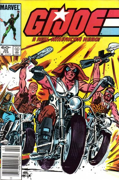 Cover for G.I. Joe, A Real American Hero (Marvel, 1982 series) #32 [Newsstand Edition]