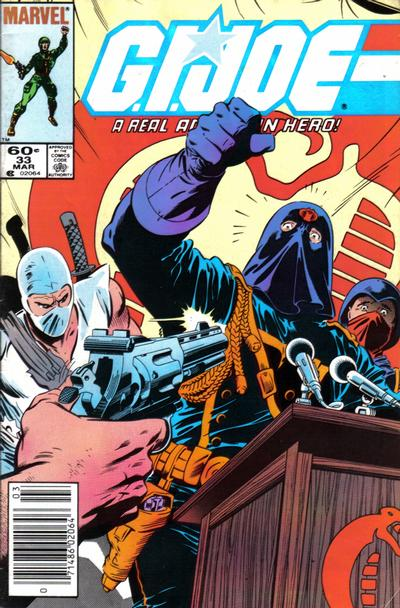 Cover for G.I. Joe, A Real American Hero (Marvel, 1982 series) #33 [Newsstand Edition]