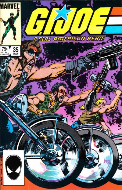Cover for G.I. Joe, A Real American Hero (Marvel, 1982 series) #35 [Direct Edition]