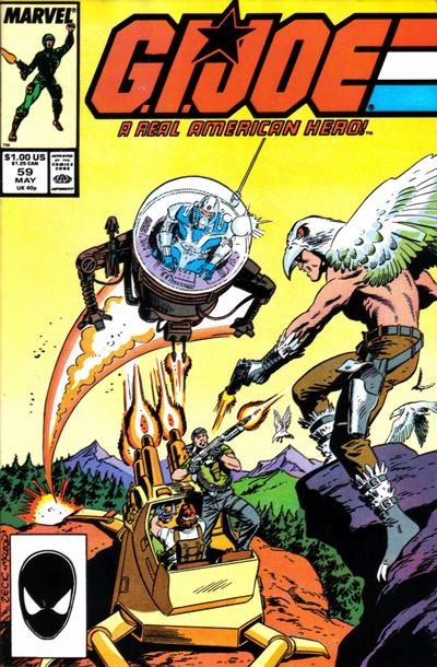 Cover for G.I. Joe, A Real American Hero (Marvel, 1982 series) #59 [Newsstand Edition]