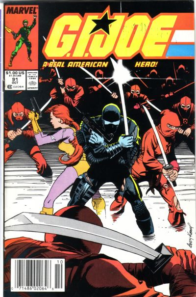 Cover for G.I. Joe, A Real American Hero (Marvel, 1982 series) #91 [Direct Edition]