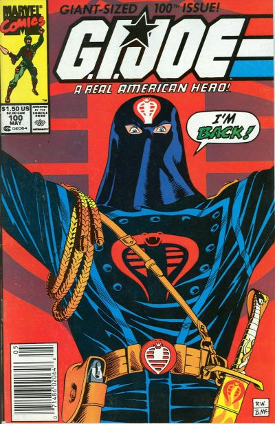 Cover for G.I. Joe, A Real American Hero (Marvel, 1982 series) #100 [Direct Edition]