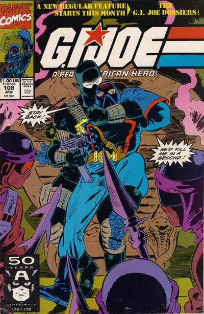 Cover for G.I. Joe, A Real American Hero (Marvel, 1982 series) #108 [Direct Edition]
