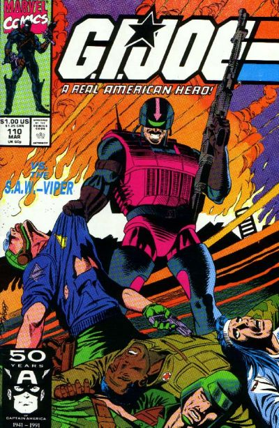 Cover for G.I. Joe, A Real American Hero (Marvel, 1982 series) #110 [Direct Edition]