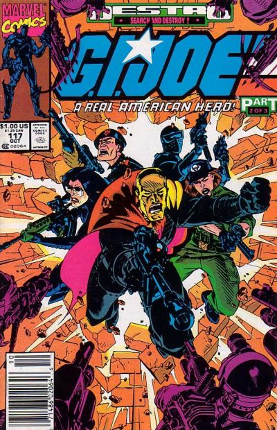 Cover for G.I. Joe, A Real American Hero (Marvel, 1982 series) #117 [Newsstand Edition]