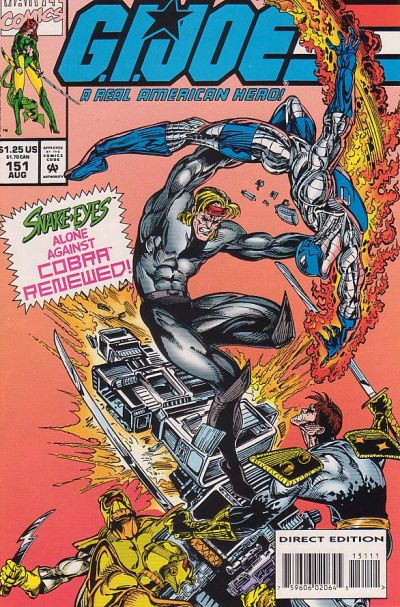 Cover for G.I. Joe, A Real American Hero (Marvel, 1982 series) #151 [Direct Edition]