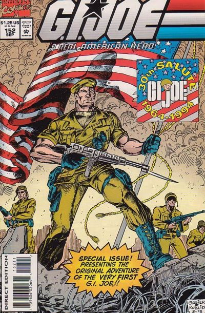 Cover for G.I. Joe, A Real American Hero (Marvel, 1982 series) #152 [Direct Edition]