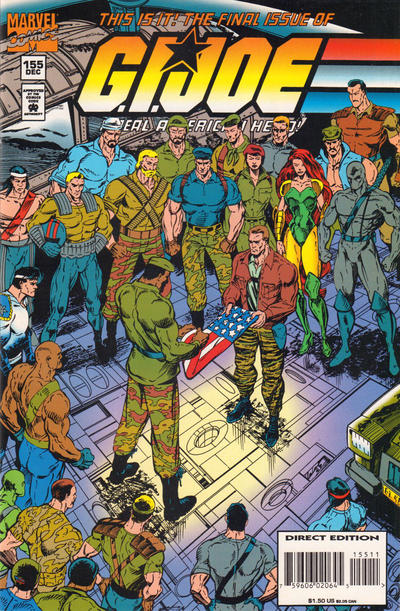 Cover for G.I. Joe, A Real American Hero (Marvel, 1982 series) #155 [Direct Edition]