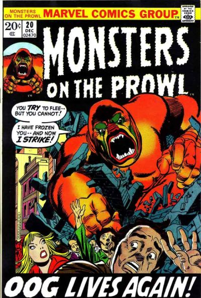 Cover for Monsters on the Prowl (Marvel, 1971 series) #20