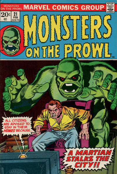 Cover for Monsters on the Prowl (Marvel, 1971 series) #21