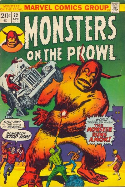 Cover for Monsters on the Prowl (Marvel, 1971 series) #22