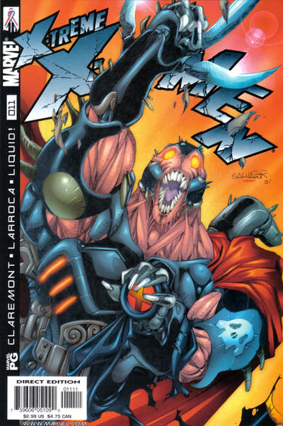Cover for X-Treme X-Men (Marvel, 2001 series) #11 [Direct Edition]