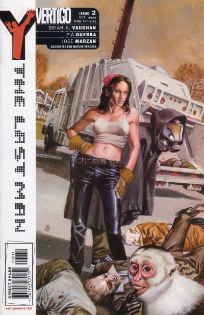 Cover for Y: The Last Man (DC, 2002 series) #2