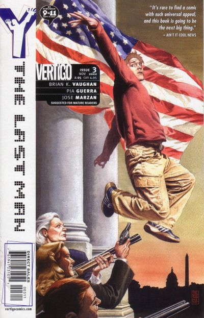 Cover for Y: The Last Man (DC, 2002 series) #3