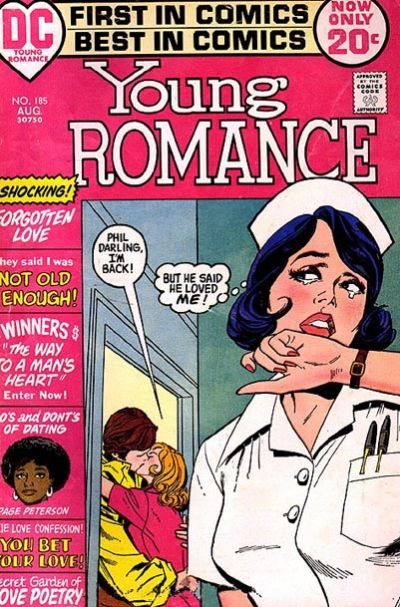 Cover for Young Romance (DC, 1963 series) #185