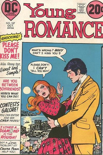 Cover for Young Romance (DC, 1963 series) #187