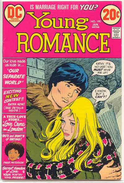 Cover for Young Romance (DC, 1963 series) #190