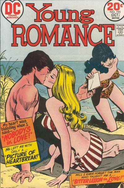 Cover for Young Romance (DC, 1963 series) #195