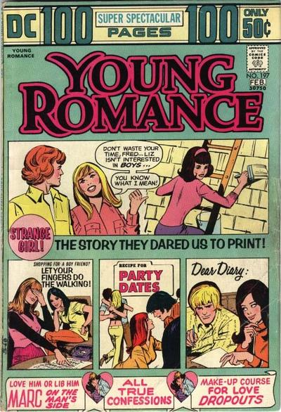 Cover for Young Romance (DC, 1963 series) #197