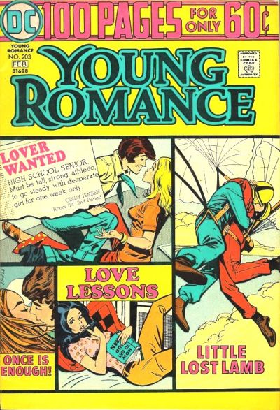 Cover for Young Romance (DC, 1963 series) #203