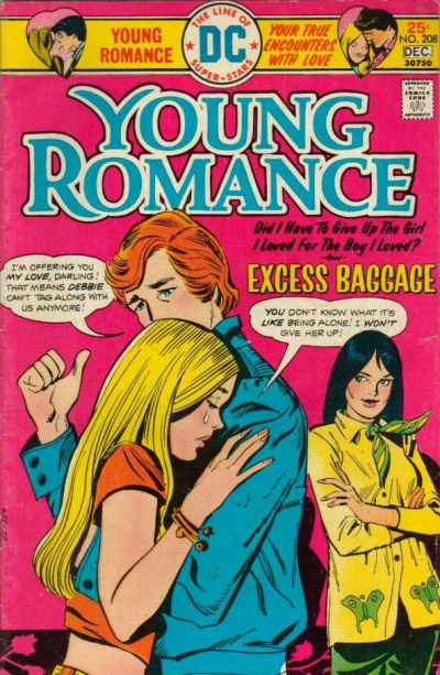 Cover for Young Romance (DC, 1963 series) #208