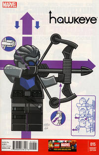 Cover Thumbnail for Hawkeye (Marvel, 2012 series) #15 [Leonel Castellani LEGO Variant Cover]