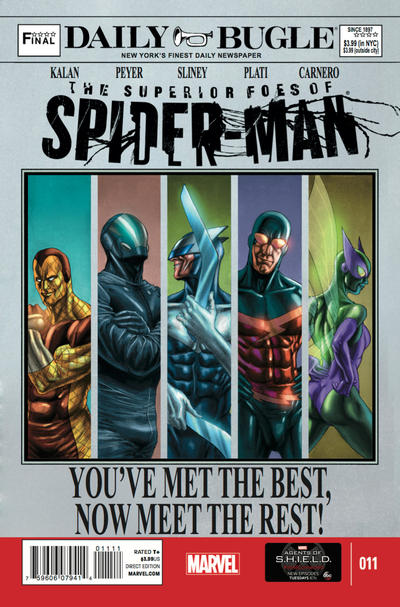 Cover for The Superior Foes of Spider-Man (Marvel, 2013 series) #11
