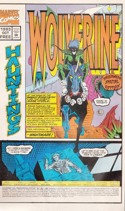 Cover for Wolverine Halloween Special Edition (Marvel, 1993 series) #1