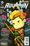 Cover for Aquaman (DC, 2011 series) #27 [Scribblenauts Unmasked Cover]