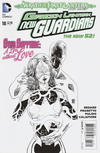 Cover for Green Lantern: New Guardians (DC, 2011 series) #18 [Aaron Kuder Black & White Cover]