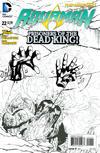 Cover for Aquaman (DC, 2011 series) #22 [Paul Pelletier Black & White Variant]