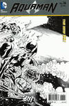 Cover Thumbnail for Aquaman (2011 series) #16 [Paul Pelletier Black & White Wraparound Variant]