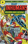 Cover for The Inhumans (Marvel, 1975 series) #4 [British price variant.]