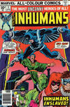 Cover for The Inhumans (Marvel, 1975 series) #5 [British Price Variant]