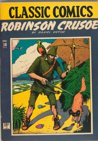 Cover Thumbnail for Classic Comics (Gilberton, 1941 series) #10 - Robinson Crusoe [HRN 14]