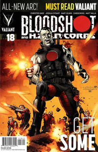 Cover Thumbnail for Bloodshot and H.A.R.D.Corps (Valiant Entertainment, 2013 series) #18 [Cover B - Pullbox Edition - Lewis Larosa]