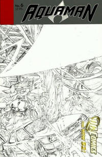 Cover Thumbnail for Aquaman (DC, 2011 series) #6 [black & white variant]