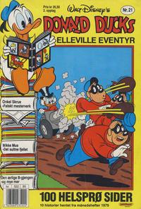 Cover Thumbnail for Donald Ducks Elleville Eventyr (Hjemmet / Egmont, 1986 series) #21 [Reutsendelse]